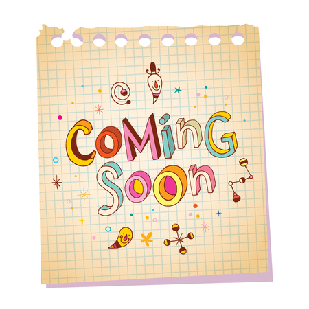 54765910 - coming soon notepad paper message with unique hand lettering design